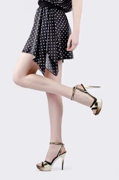 Model Wearing Platform Heels