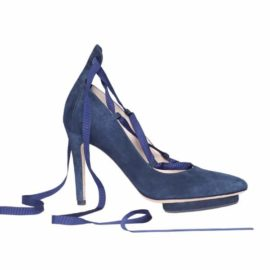 Roccamore Blue Louise Pump Side