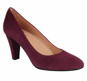 Marine Burgundy Suede Pump Ukies