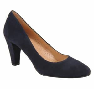 Marine Navy Suede Pump Ukies