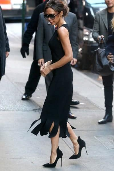 Victoria Beckham Walking in Black High Heels