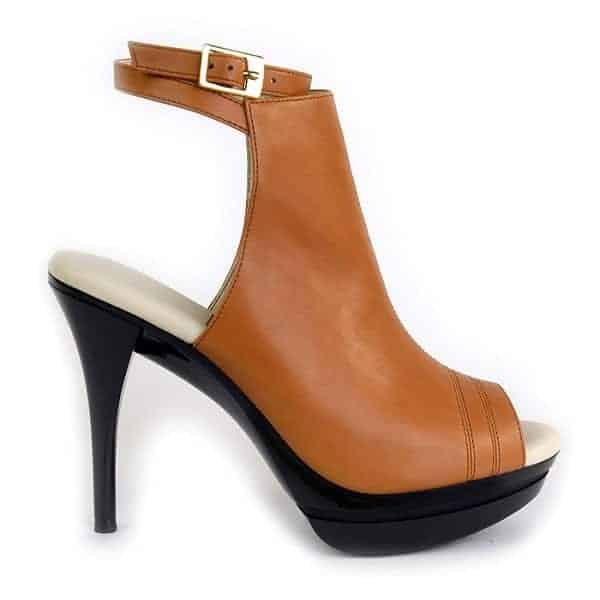 Ilene Berg Samara Caramel Bootie Side Right