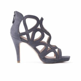 Sargossa Redefined Grey Suede Sandal Side