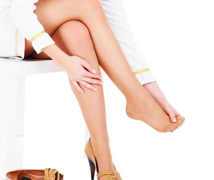 Woman in Heels with Ball of the Foot Pain