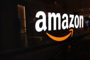 Amazon Logo on San Francisco Shopping Mall Wall