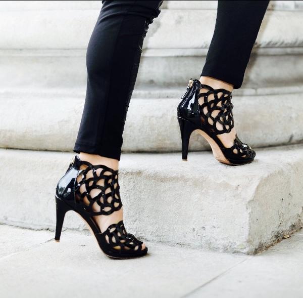 Sargossa Inspire Black Patent Heels