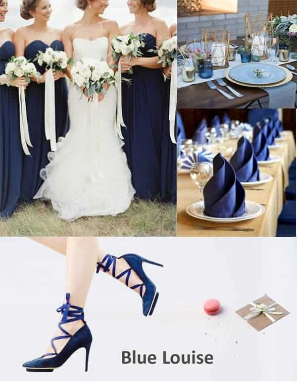 Blue Louise Bridesmaid Wedding Shoes
