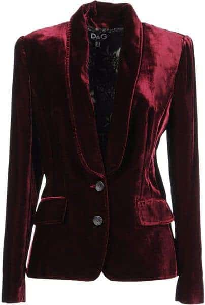 Holiday Party Dresses & Outfits - Dolce & Gabbana Plum Velour Blazer